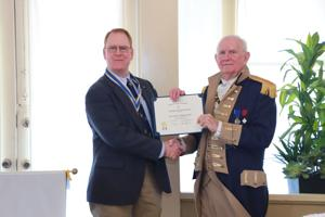 Irion honored at SAR chapter meeting