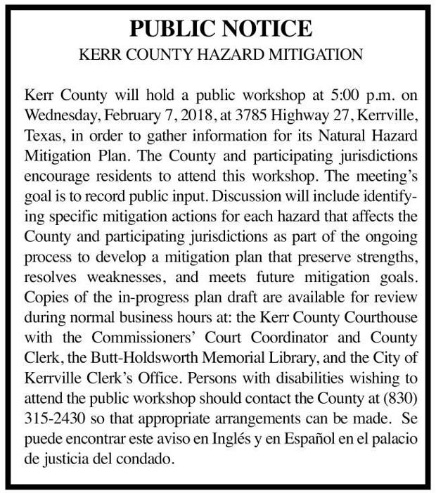Kerr County - Public Notice
