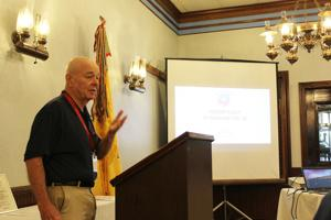 <p>Former Marine Captain Bill White describes his Honor Flight to Washington, DC at the MOWW chapter meeting.</p>