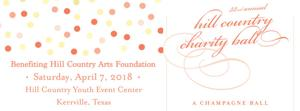 "<p>The Hill Country Charity Ball Association invites area resident to this year's ""Champagne Ball"" to be held on Saturday, April 7, at the Hill Country Youth Event Center in Kerrville.</p>"