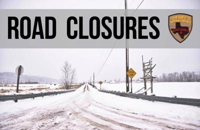 KCSO details current road closures due to weather