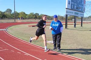 CP female runner  a 'team of one'