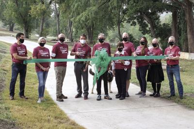 Ribbon-cutting held for new River Trail extension
