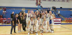 <p>The Lady Antlers celebrated their championship win at the CISD tournament held over the weekend.</p>