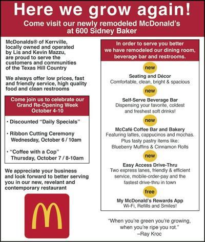 McDonald's celebrates Grand Re-opening at SB location