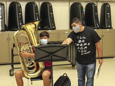 BTW, HPMS students learn band music