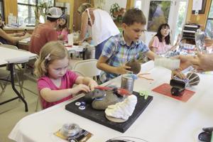 River provides trash, kids add imagination