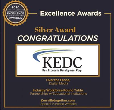 KEDC earns excellence awards for podcast, business retention