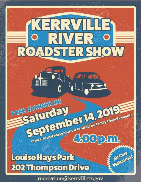 'Kerrville River Roadster Show' set for Sept. 14