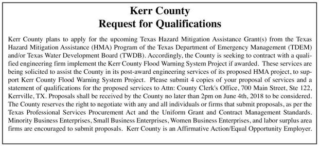Kerr County - Request for Qualifications