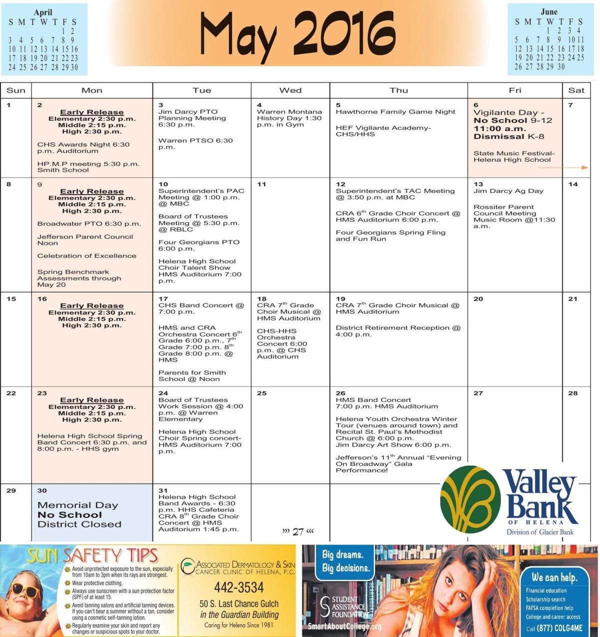 May School Calendar