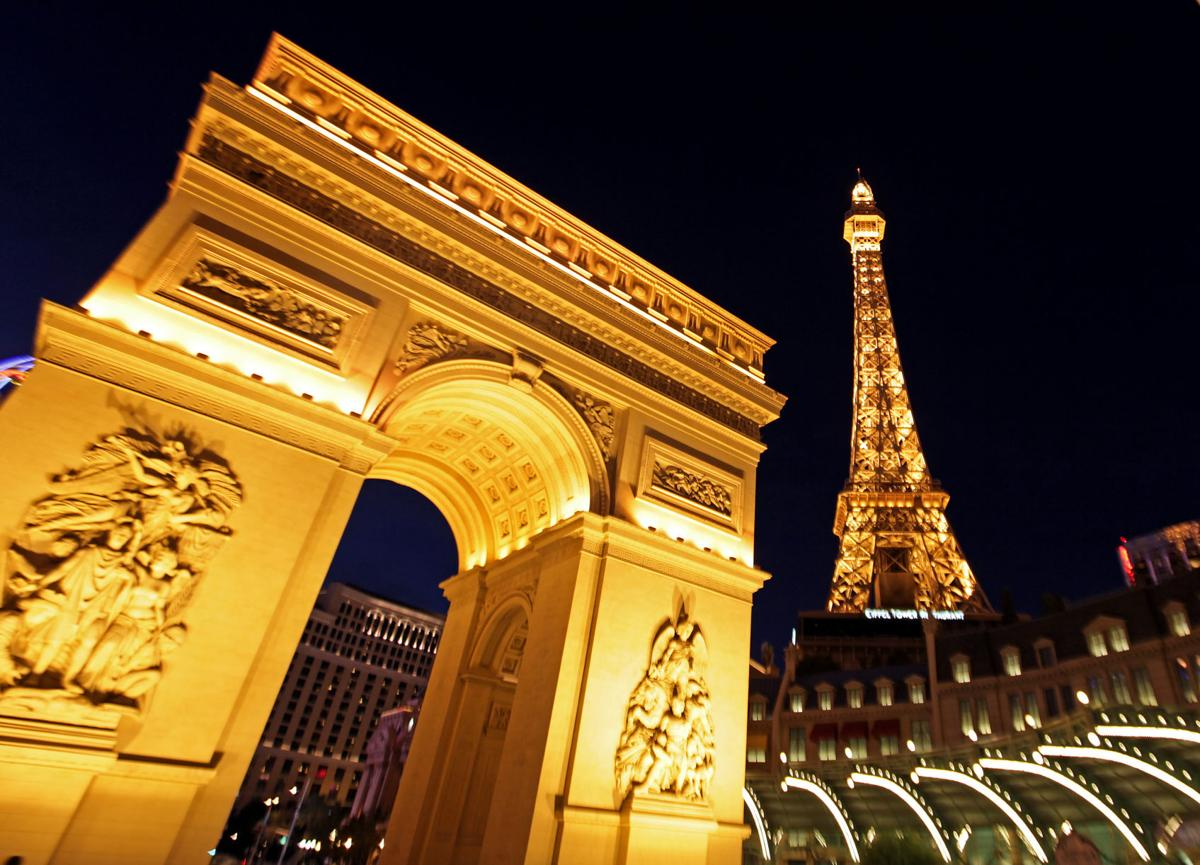 A view of Paris Las Vegas, a hotel and casino located on the Las Vegas Strip in Las Vegas, Nevada, on Dec. 6, 2013. The property is owned and operated by Caesars Entertainment Corp.