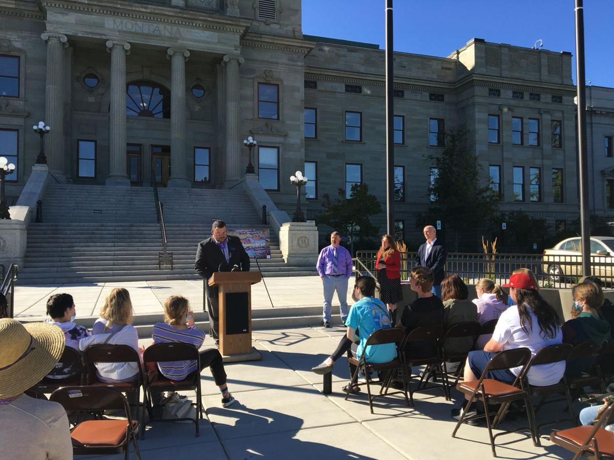 State Sen. Jason Small speaks at American Indian Heritage Day ceremony