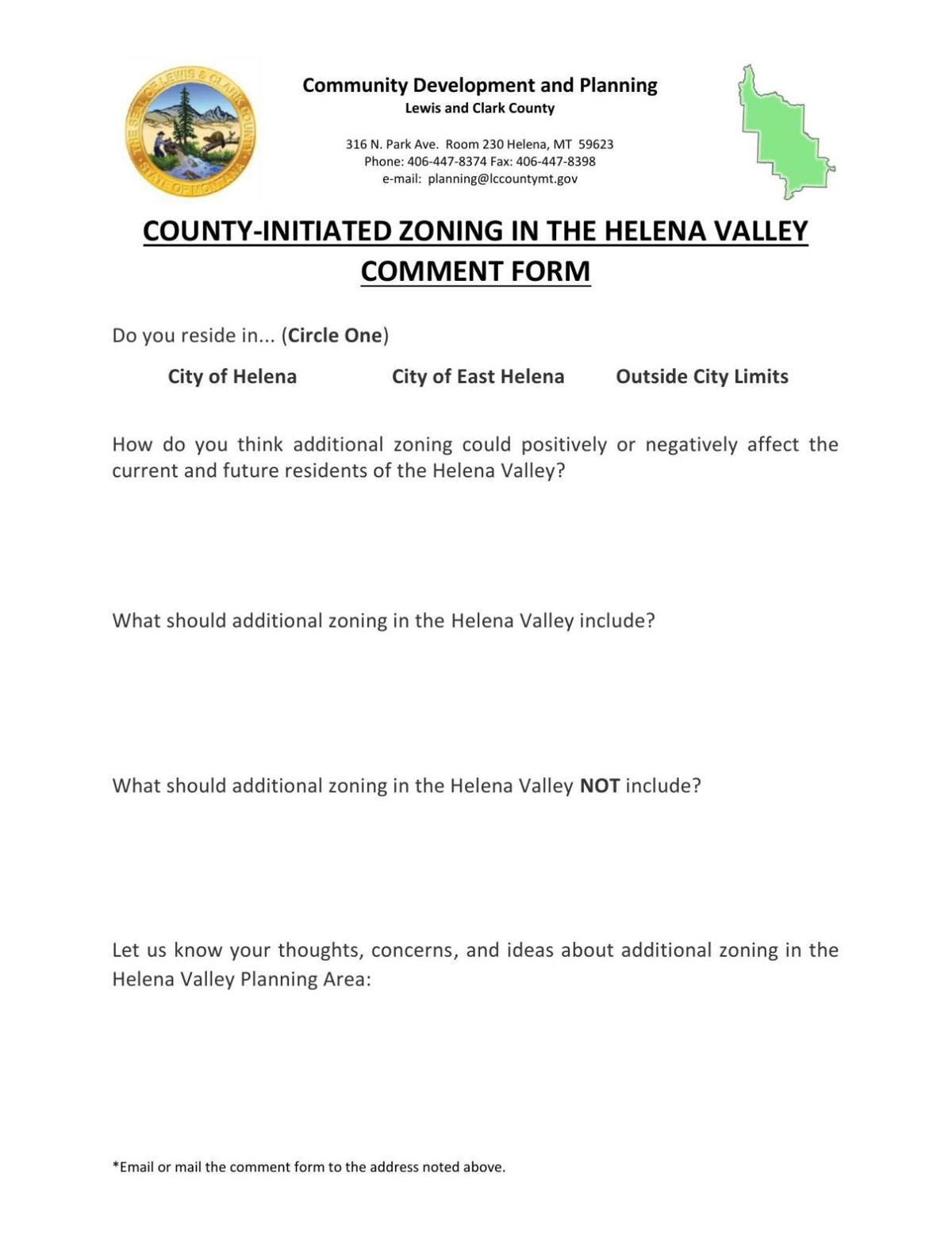 valley zoning public comment