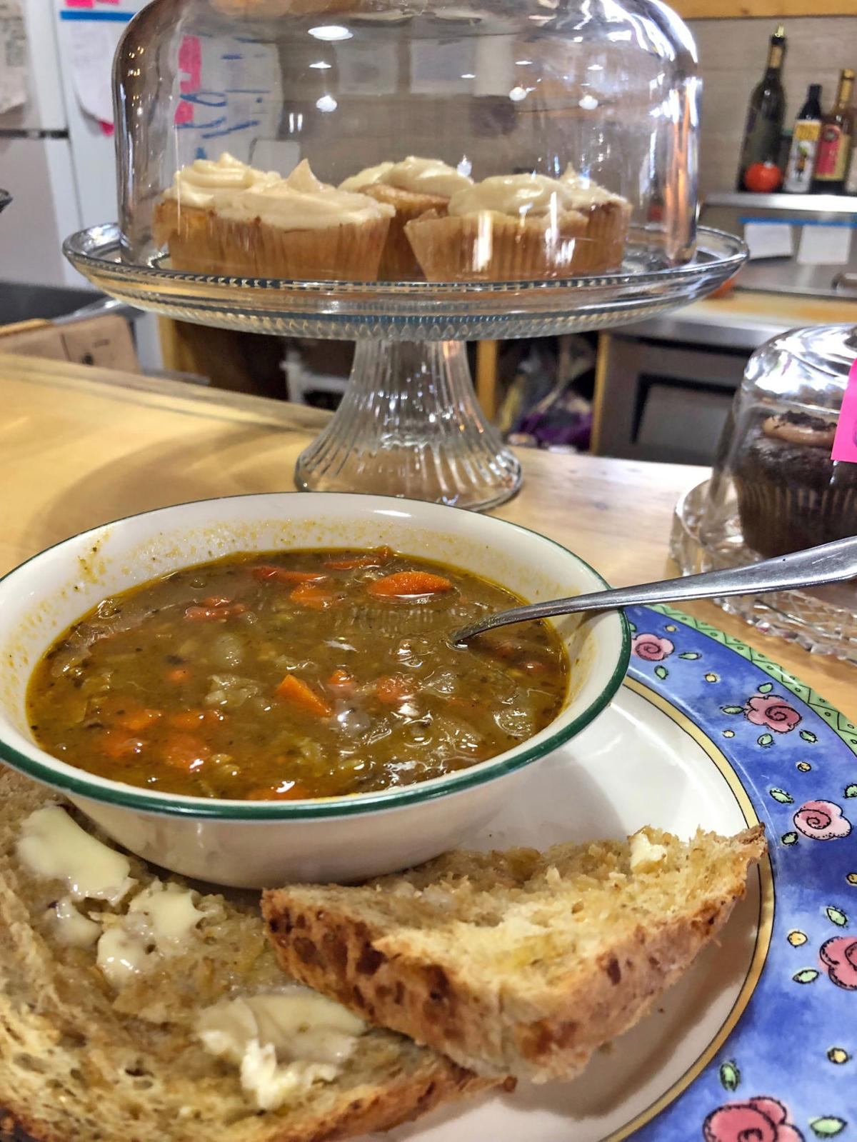 Soup and a slice