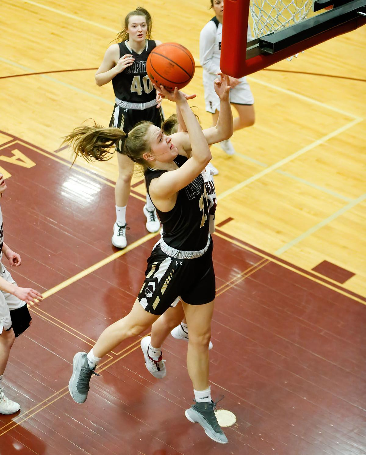Paige Bartsch goes up strong