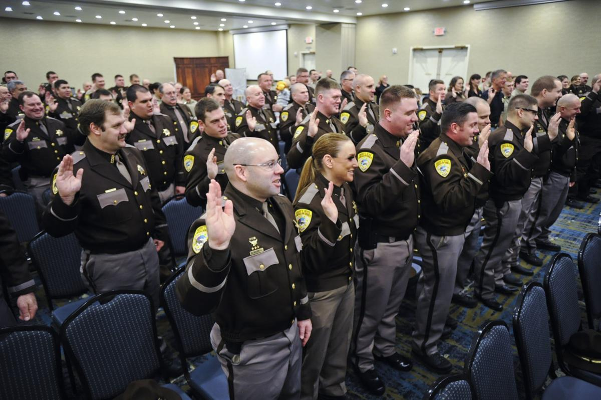 Lewis and Clark County Sheriff Leo Dutton swears in 52 deputies