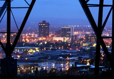 Downtown Billings, the largest city in Montana