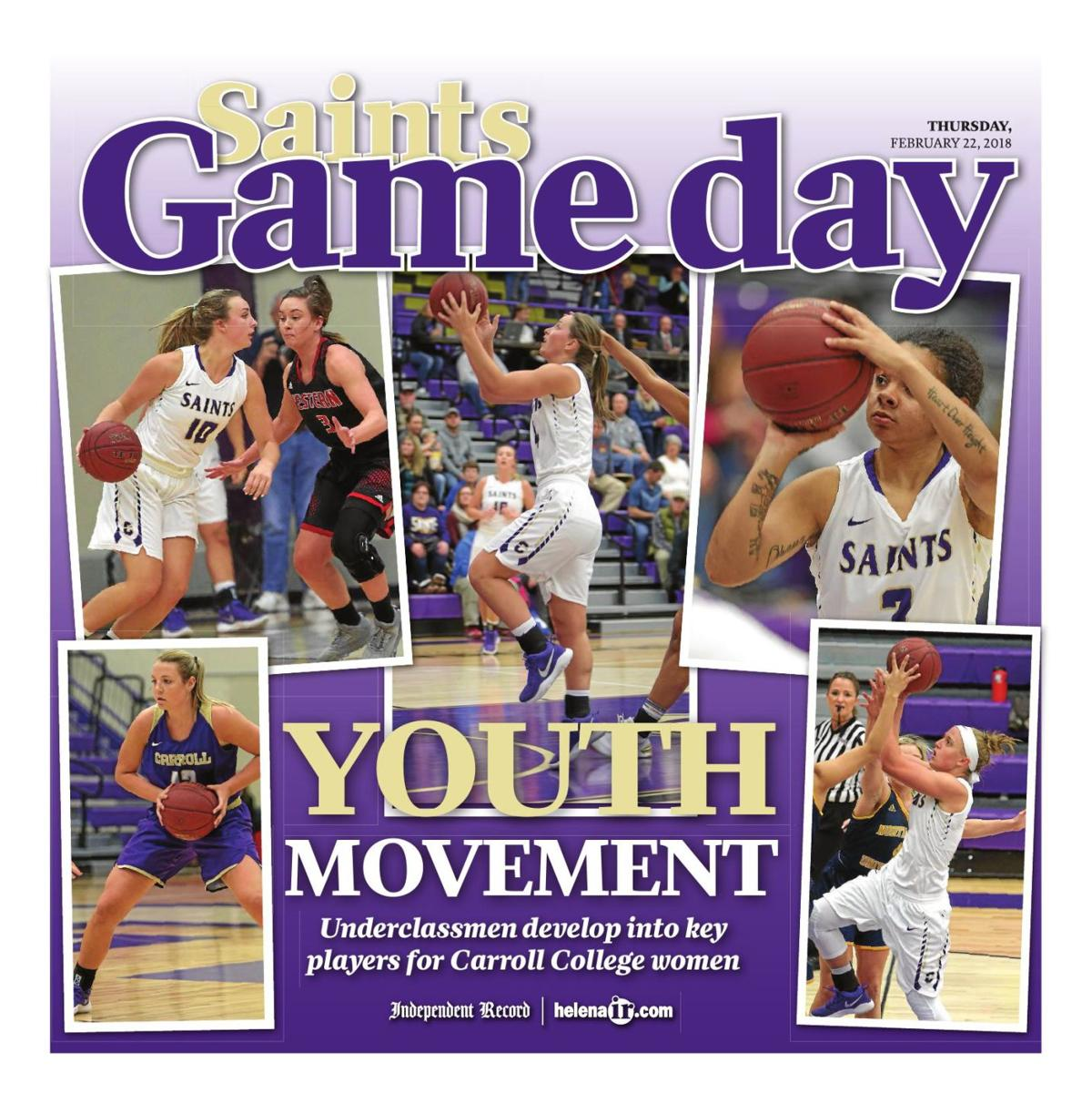 Carroll College Saints Basketball Game Day - February 22, 2018
