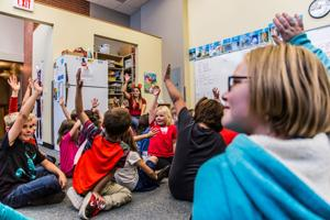 Russell Elementary's Harry Potter-style 'house' system builds camaraderie, character