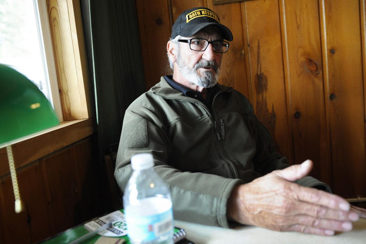 Oath Keepers at White Hope Mine in Lincoln, Mont.