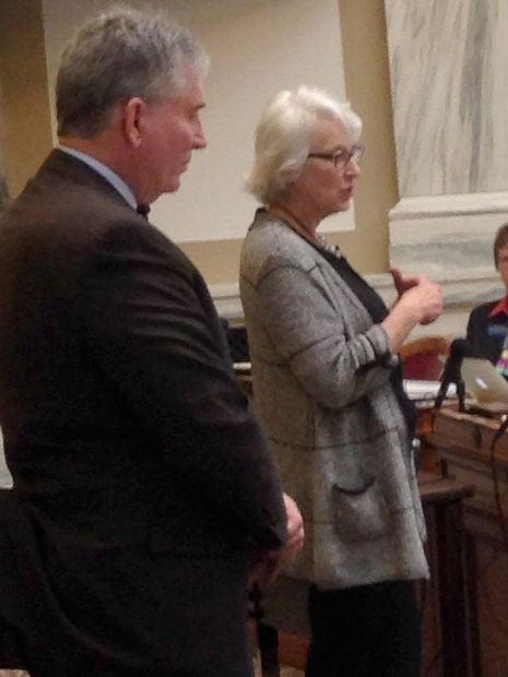 Speaking to legislators