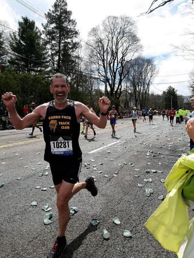 Kyle Strode at the Boston Marathon