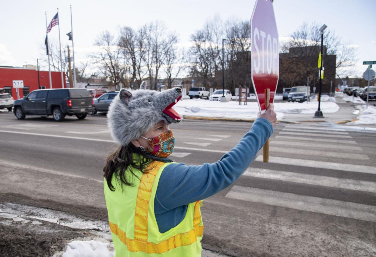 Exchange-Crossing Guard-Hat Lady