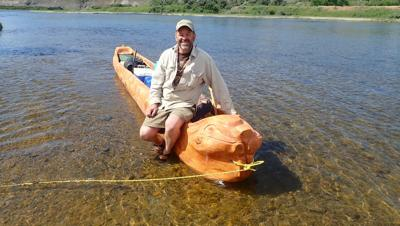 Thomas Elpel and Belladonna Beaver dugout canoe