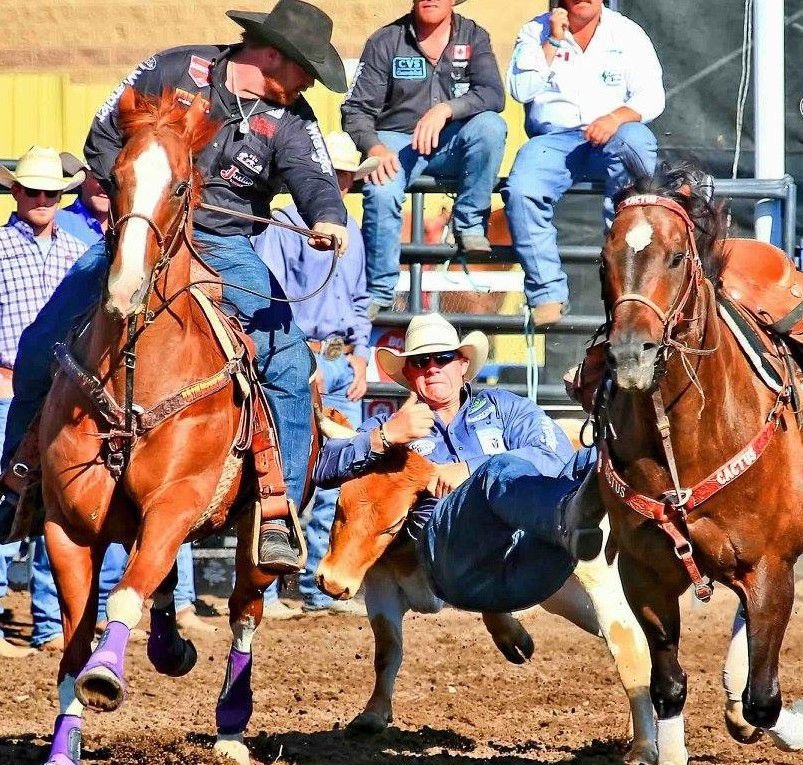 Helena steer wrestler Ty Erickson competes at a rodeo recently in this undated photo.