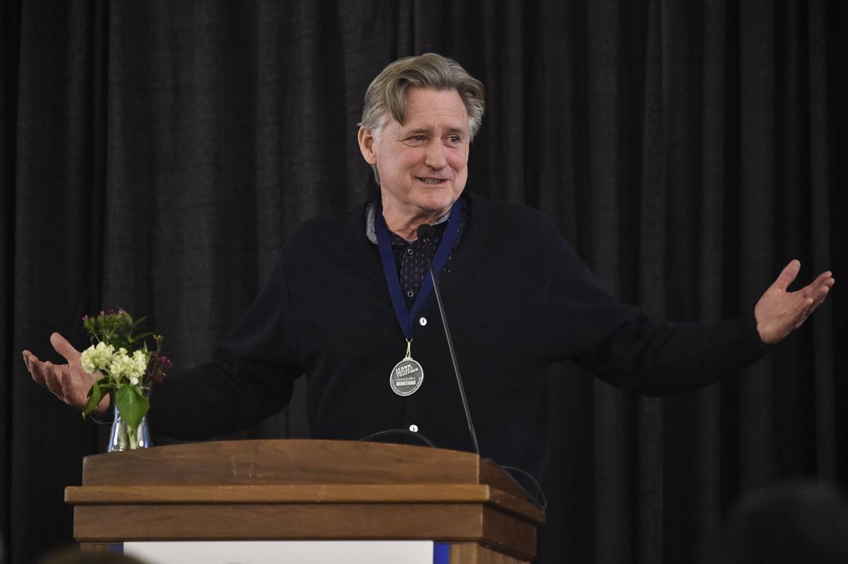 Actor Bill Pullman gives the keynote address