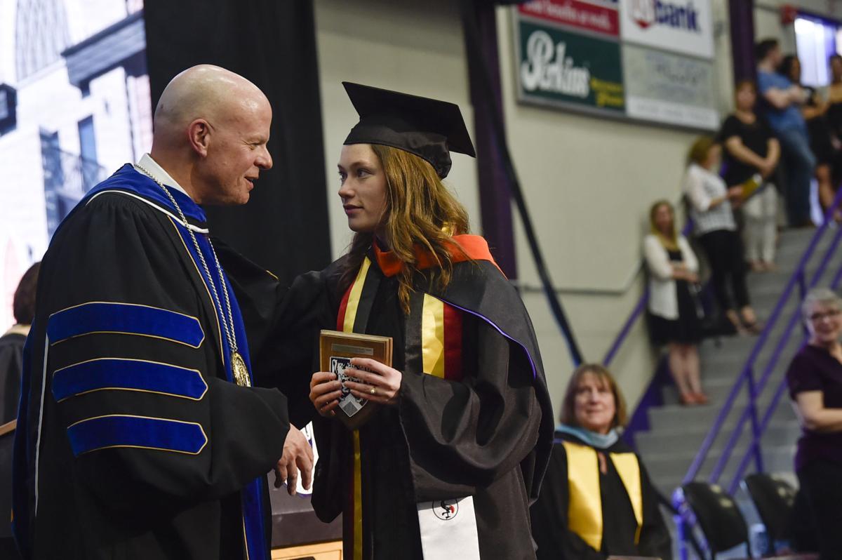 Katherine Buckner accepts the Michael Murphy Award