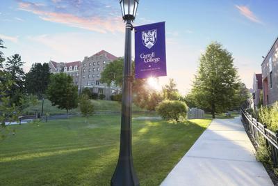 Carroll College stock image
