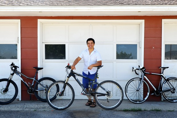 Bike rider Jesus Salazar