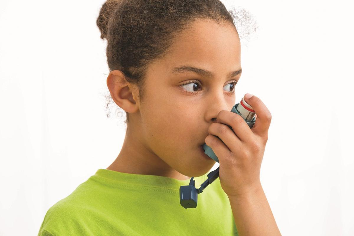 inhaler air quality stock image