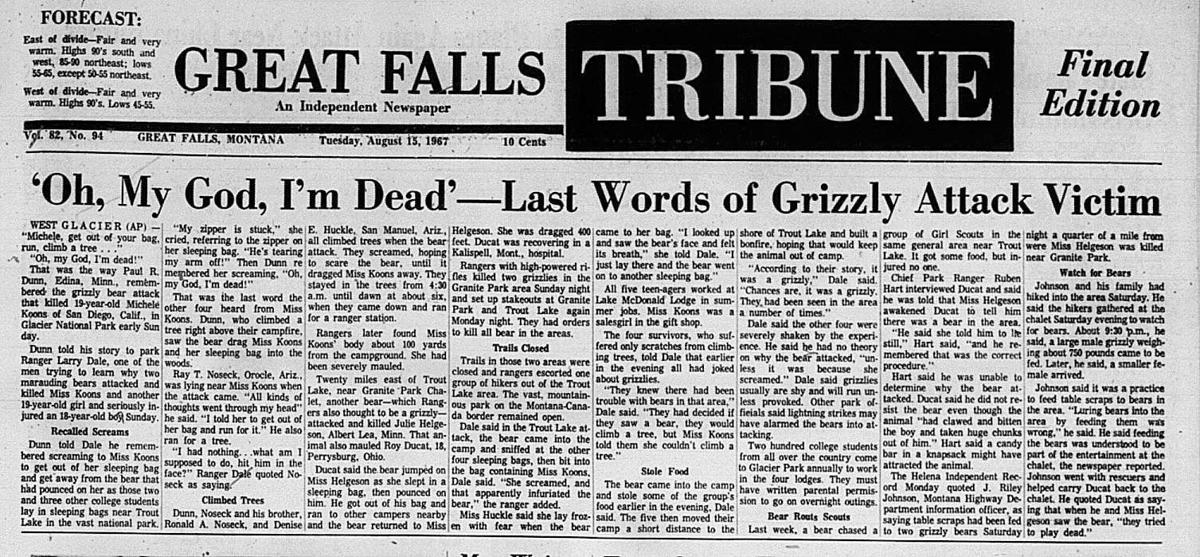 Night of the Grizzlies: 2 deaths in Glacier National Park