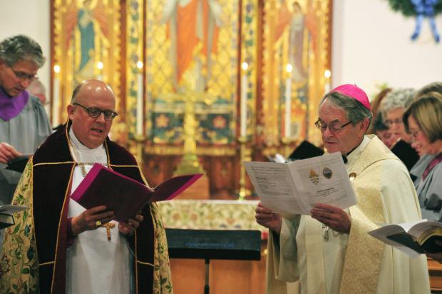 Bishops leading prayer