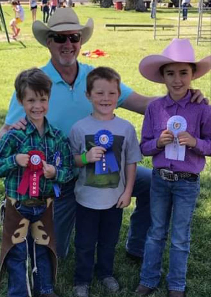 Jay Sherley with the Last Chance Stampede top Stick Horse riders in 2018