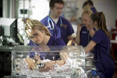 A Carroll College nursing student
