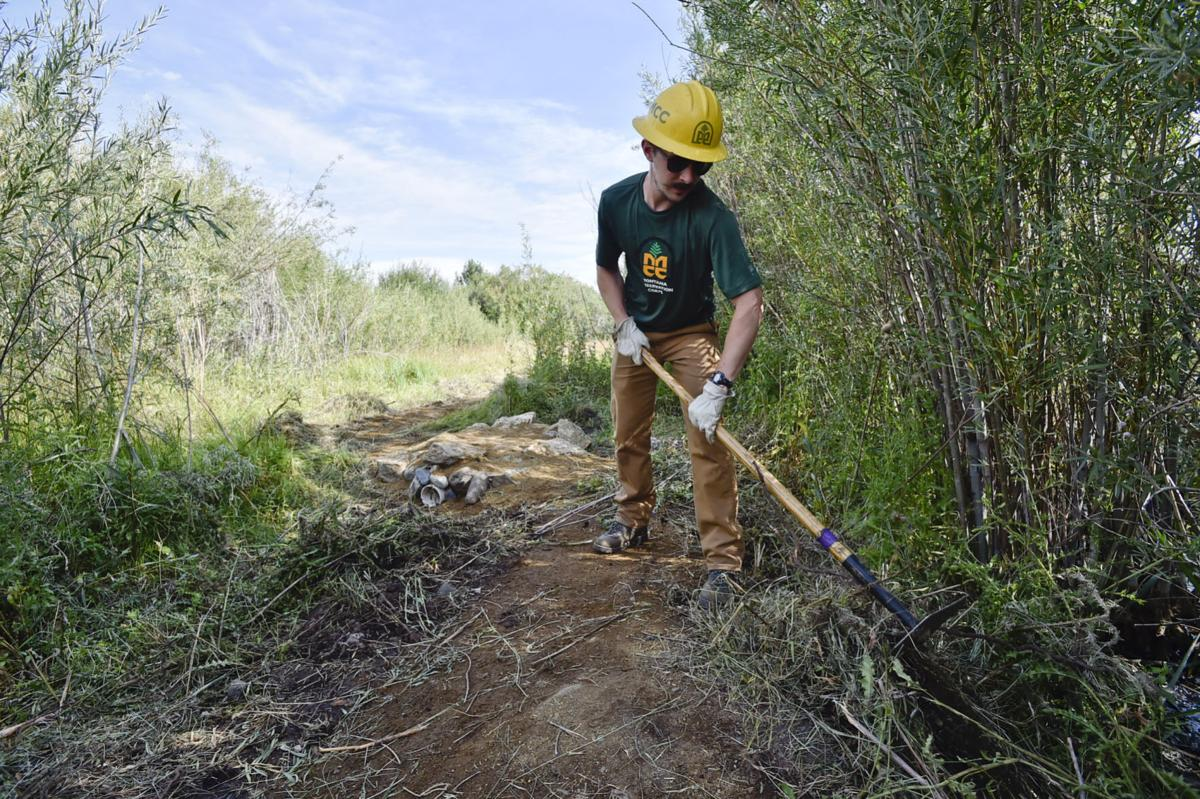 Montana Conservation Corps member Lloyd Staats