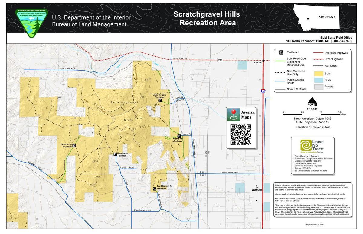 BLM map Scratchgravel Hills