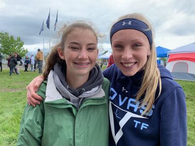 Helena Nova Track Club's Kylie Hartnett and Odessa Zentz