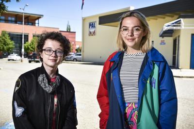 Myles Lee, left, and Becca Caro