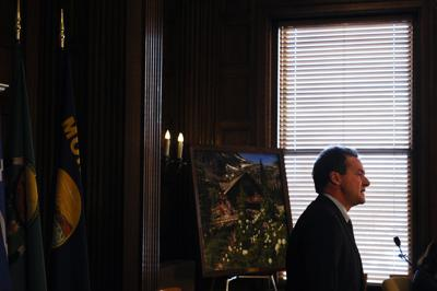 Gov. Steve Bullock gives an update on the state's response to the Covid-19 pandemic