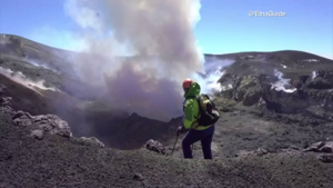 Watch Now: Climbers summit crater of Mt. Etna, and more of today's top videos