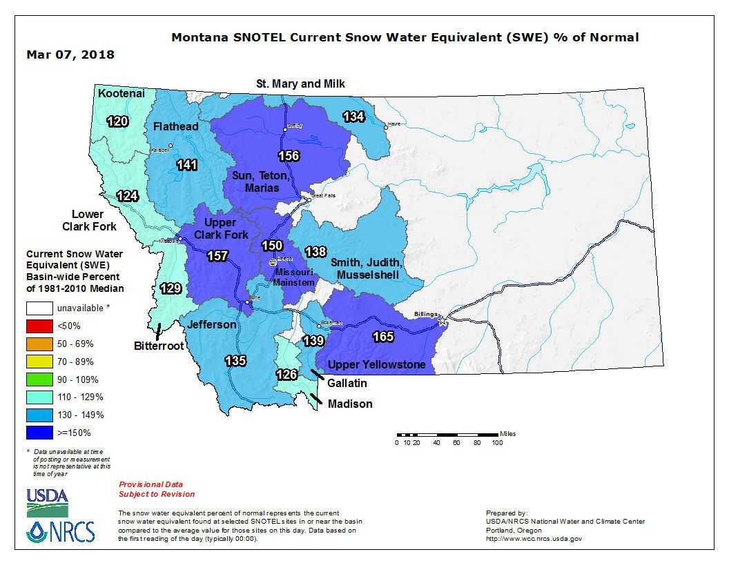 Snowpack update for March 2018