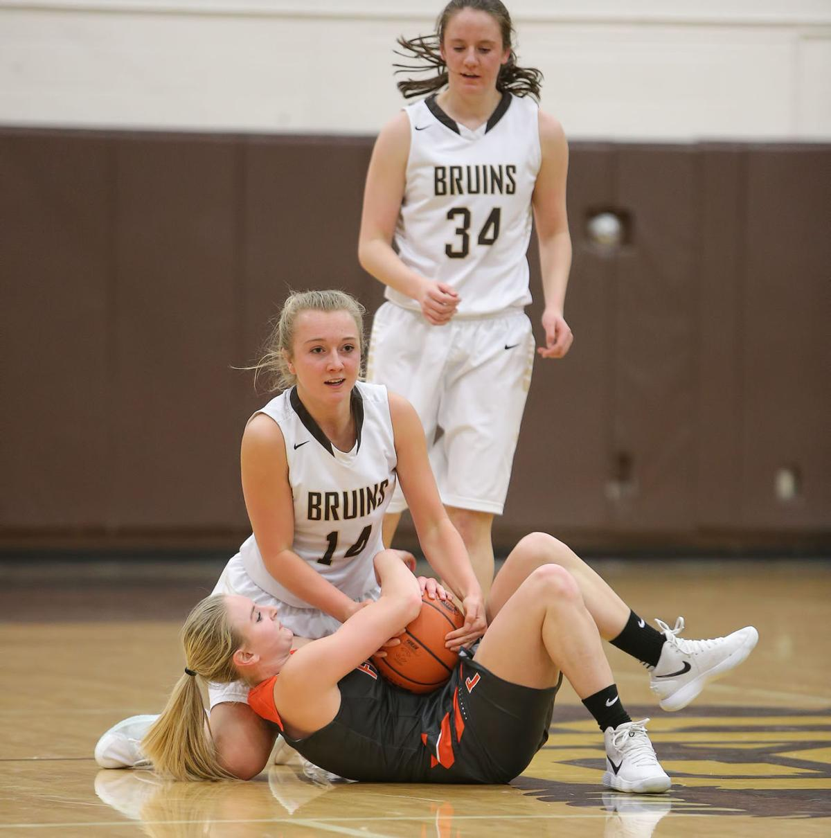 girls basketball; CHS vs Flathead