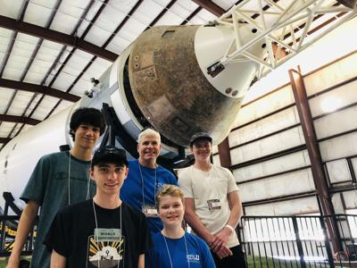 Helena's Fusion Robotics team visits the Johnson Space Center