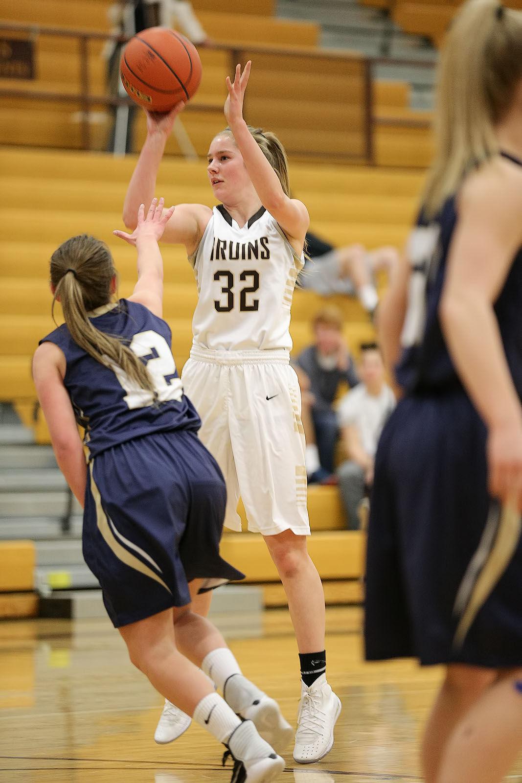 girls basketball; CHS vs Dillon