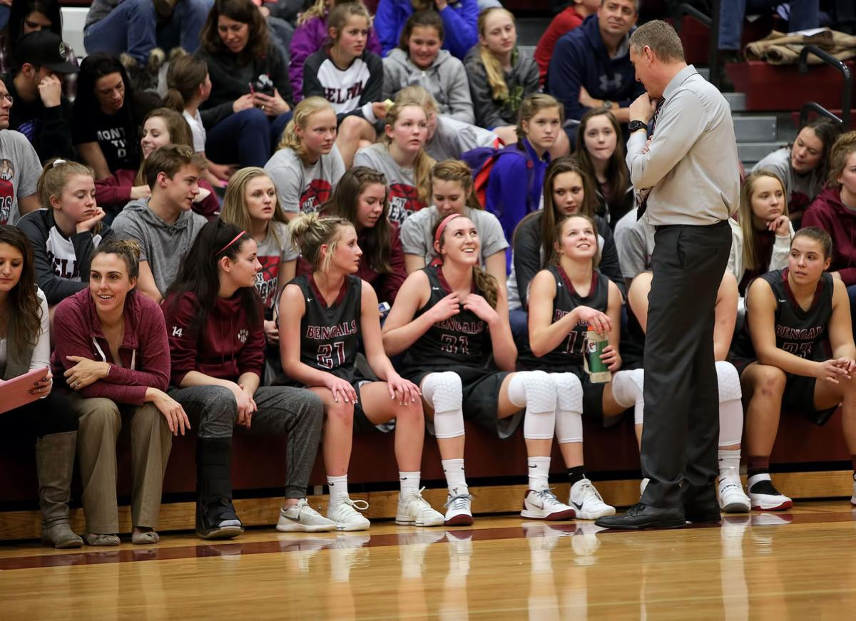 girls basketball; HHS vs Flathead